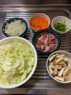 男子料理 2020-01-04 野菜炒めと味噌汁