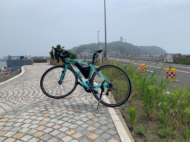 ビアンキのロードバイクで江の島までツーリング90㎞