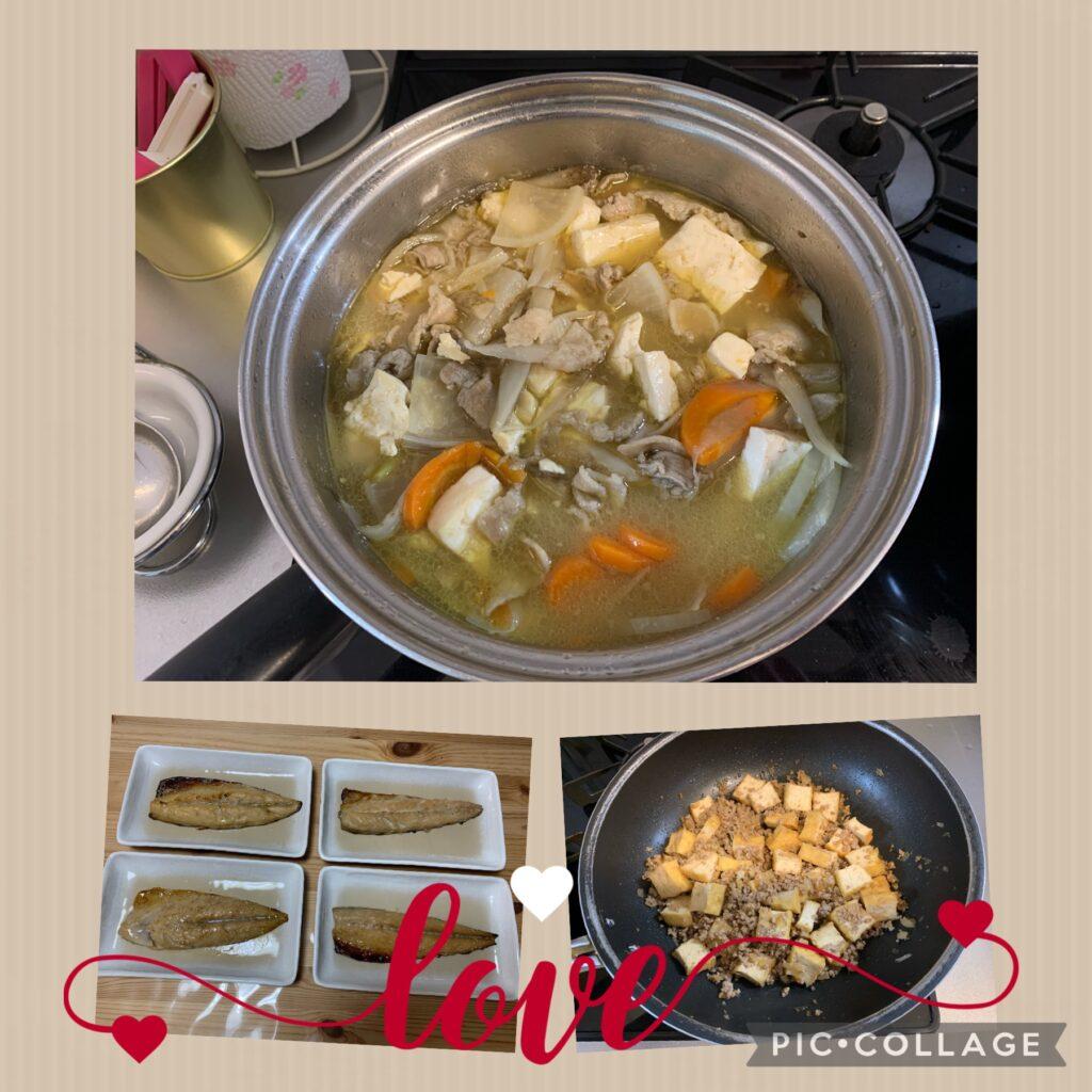 【男の料理】9/4(土)涼しくなってきたので【豚汁】ほか計3品を作って夫婦で晩酌